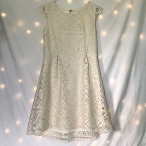 Kids cream colored lace dress
